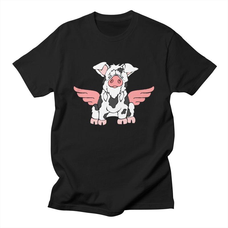 When Pigs Fly: KuneKune Women's Regular Unisex T-Shirt by Angry Squirrel Studio