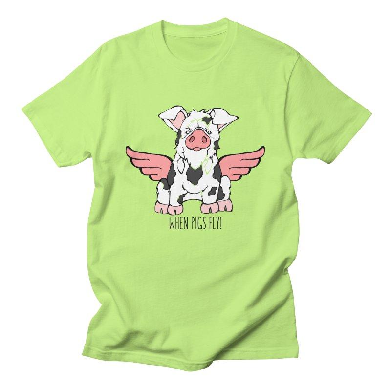 When Pigs Fly: KuneKune Men's Regular T-Shirt by Angry Squirrel Studio