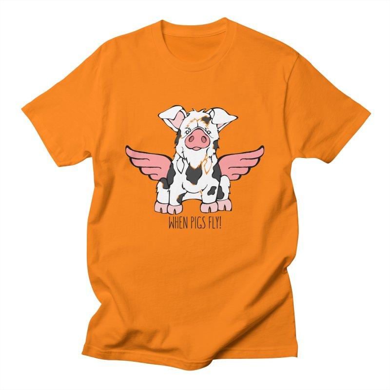 When Pigs Fly: KuneKune Women's Unisex T-Shirt by Angry Squirrel Studio