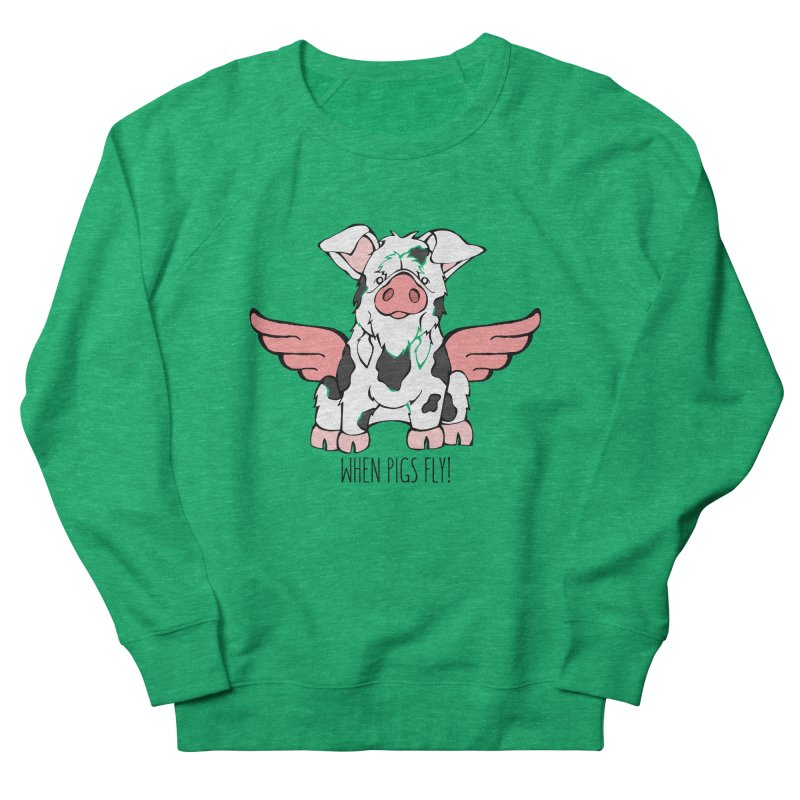 When Pigs Fly: KuneKune Men's Sweatshirt by Angry Squirrel Studio