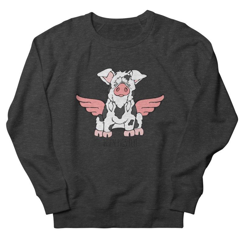 When Pigs Fly: KuneKune Men's Sweatshirt by Angry Squirrel Studio