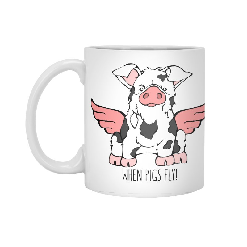 When Pigs Fly: KuneKune Accessories Mug by Angry Squirrel Studio