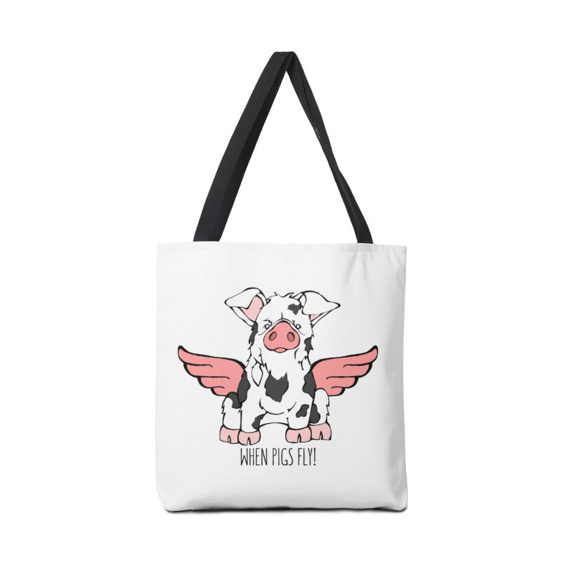 When Pigs Fly: KuneKune Accessories Bag by Angry Squirrel Studio