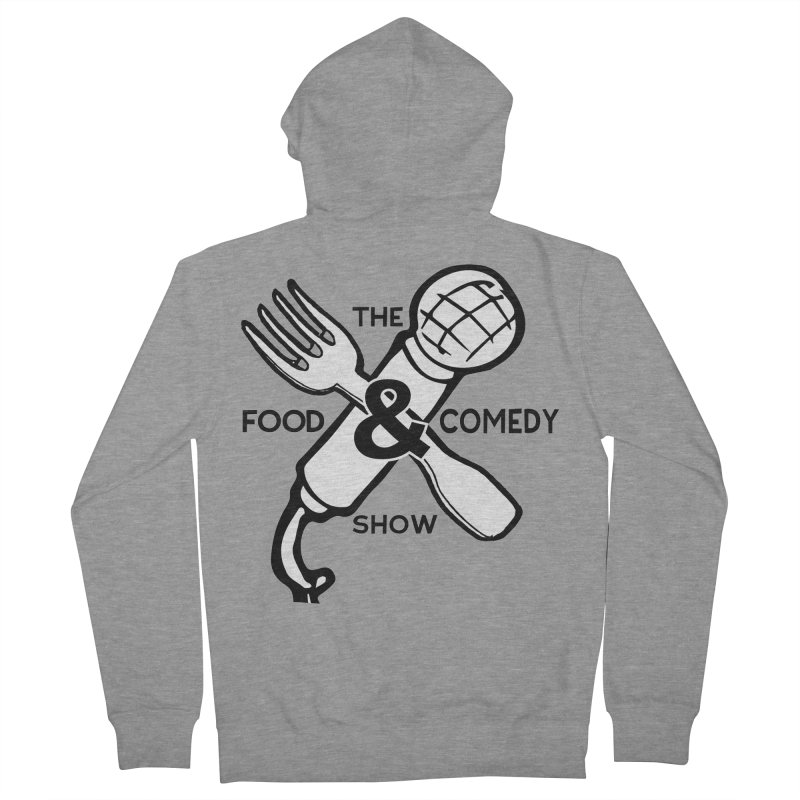 The Food & Comedy Show Men's French Terry Zip-Up Hoody by Angry Squirrel Studio