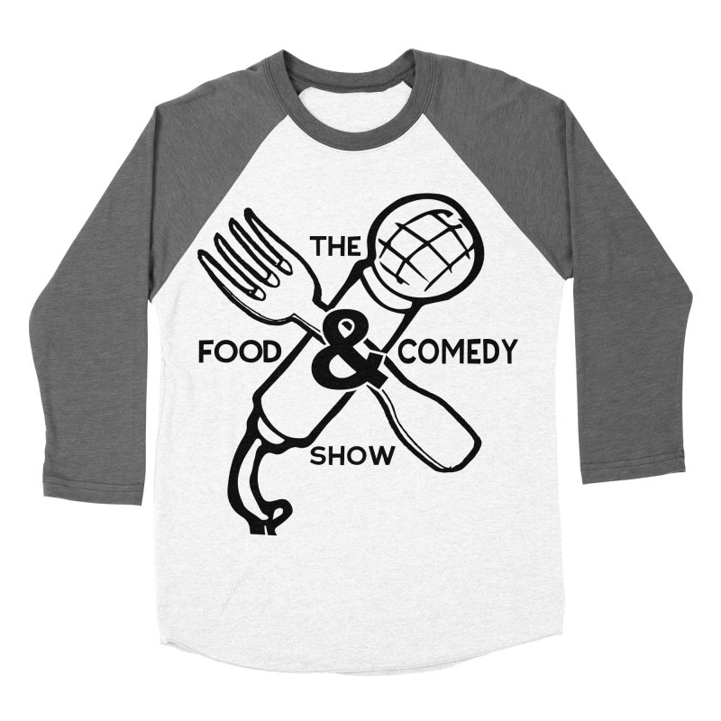 The Food & Comedy Show Men's Baseball Triblend Longsleeve T-Shirt by Angry Squirrel Studio