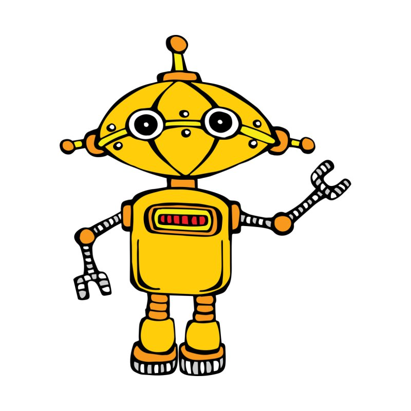 Robot Wes Kids T-Shirt by Angry Squirrel Studio