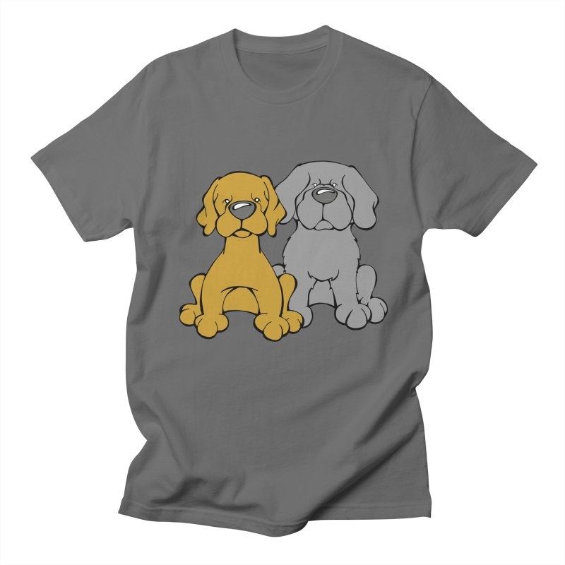 The Dog Couple: Samson and Jordy Men's T-Shirt by Angry Squirrel Studio