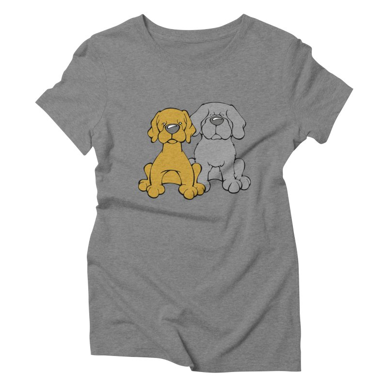 The Dog Couple: Samson and Jordy Women's Triblend T-Shirt by Angry Squirrel Studio