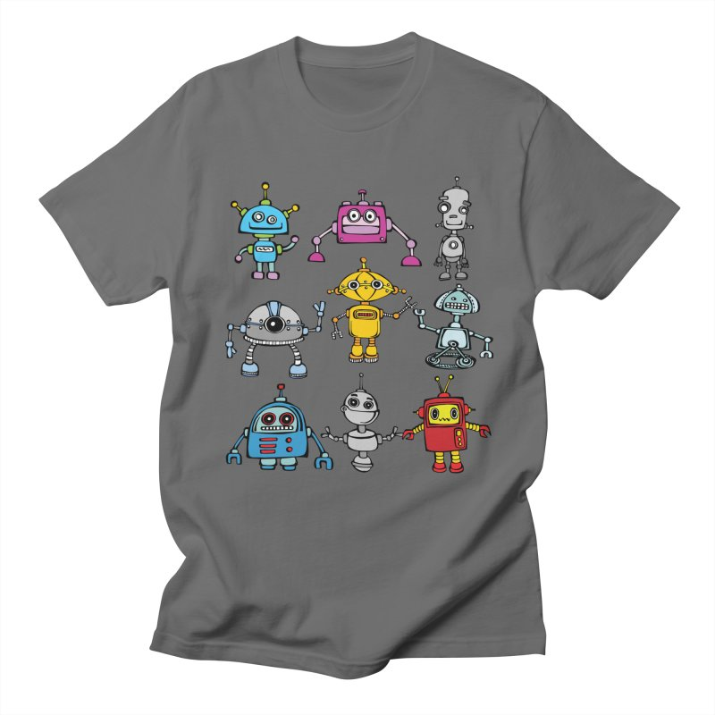 Robots! Robots! Robots! Men's T-Shirt by Angry Squirrel Studio