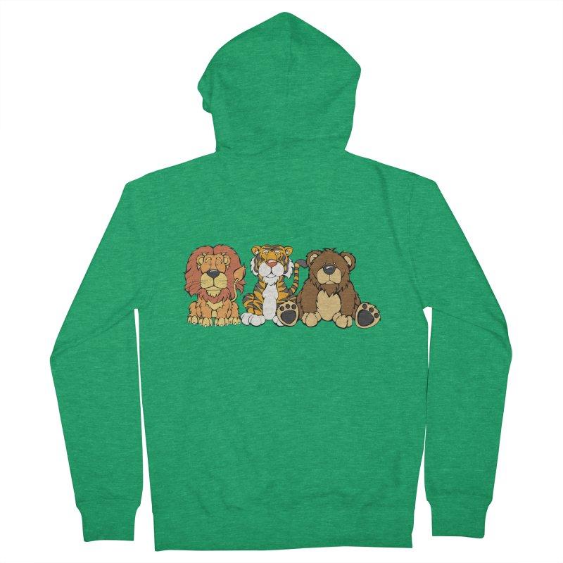 Lions & Tigers & Bears Men's Zip-Up Hoody by Angry Squirrel Studio