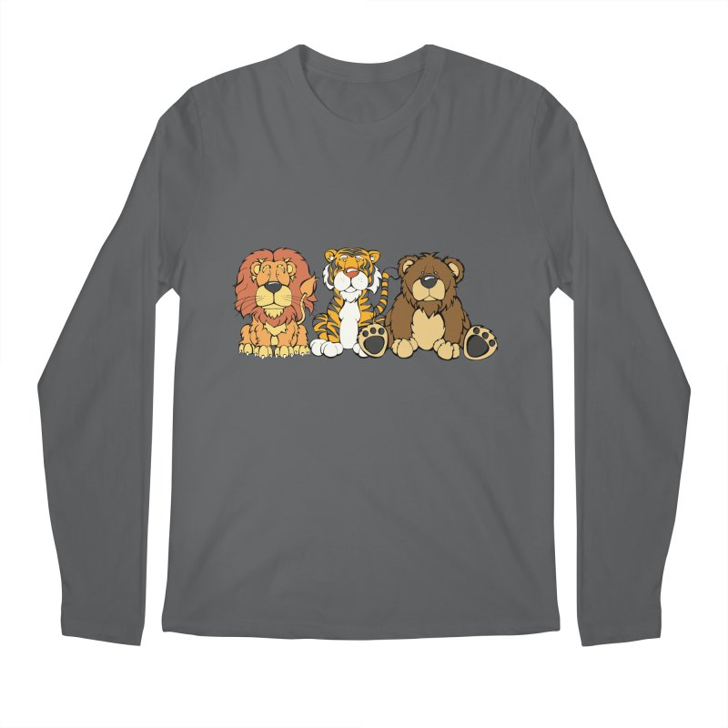 Lions & Tigers & Bears Men's Longsleeve T-Shirt by Angry Squirrel Studio