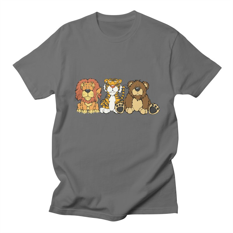 Lions & Tigers & Bears Men's T-Shirt by Angry Squirrel Studio