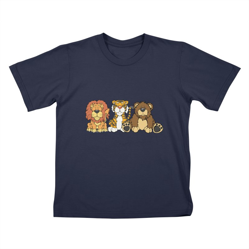 Lions & Tigers & Bears Kids T-Shirt by Angry Squirrel Studio