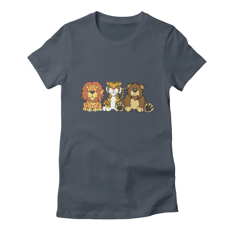 Lions & Tigers & Bears Women's T-Shirt by Angry Squirrel Studio