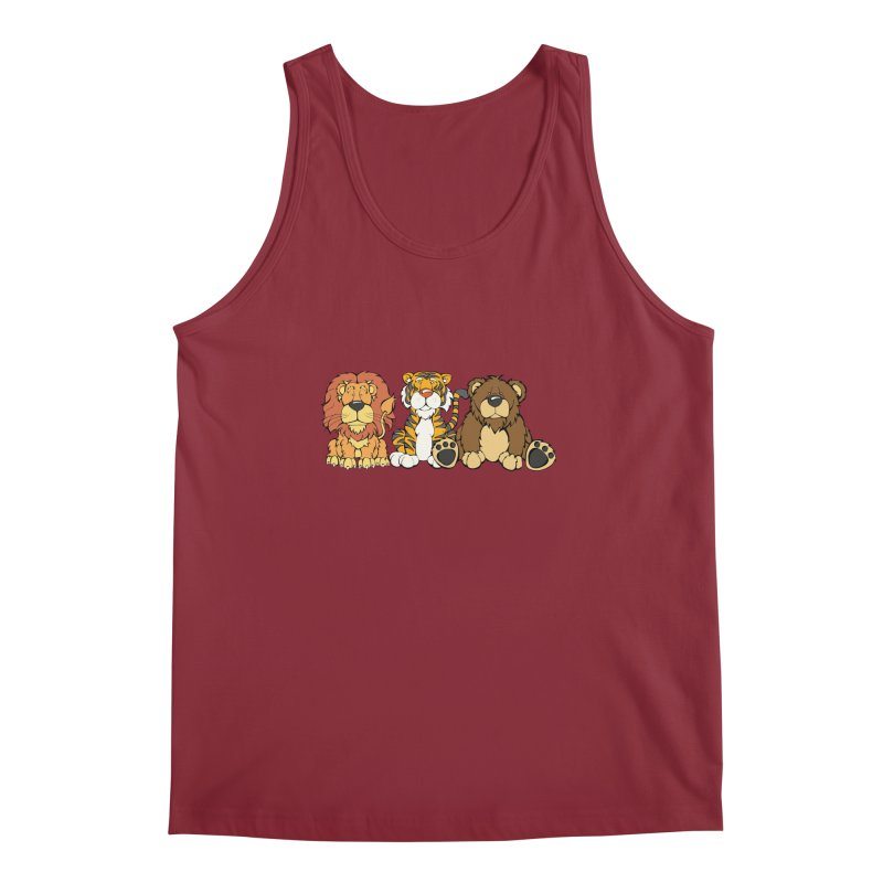 Lions & Tigers & Bears Men's Tank by Angry Squirrel Studio