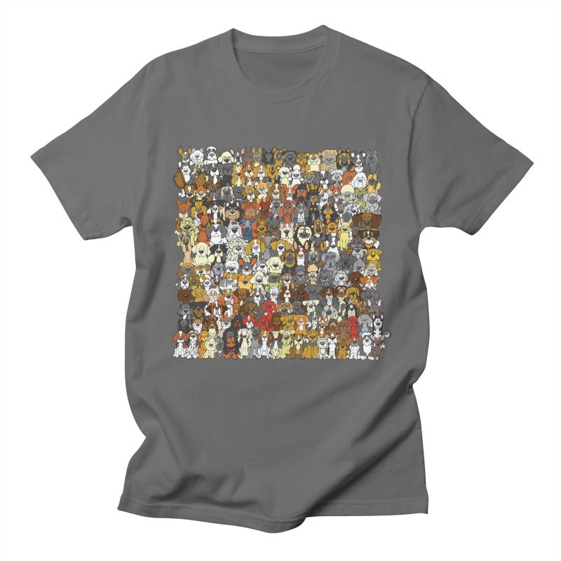 Dogs! Dogs! Dogs! Men's T-Shirt by Angry Squirrel Studio