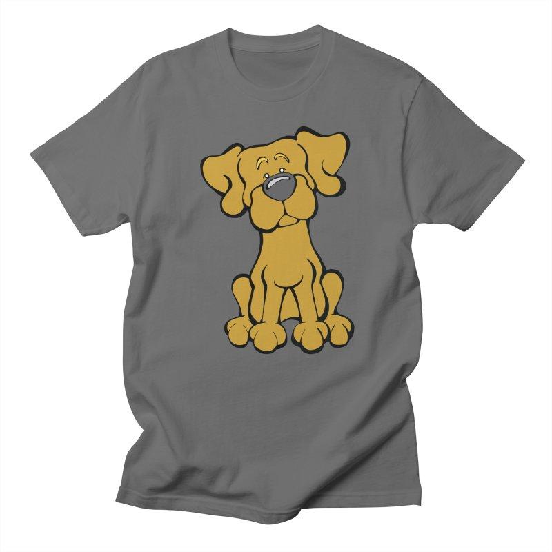 Labrador Retriever (Yellow) Men's T-Shirt by Angry Squirrel Studio