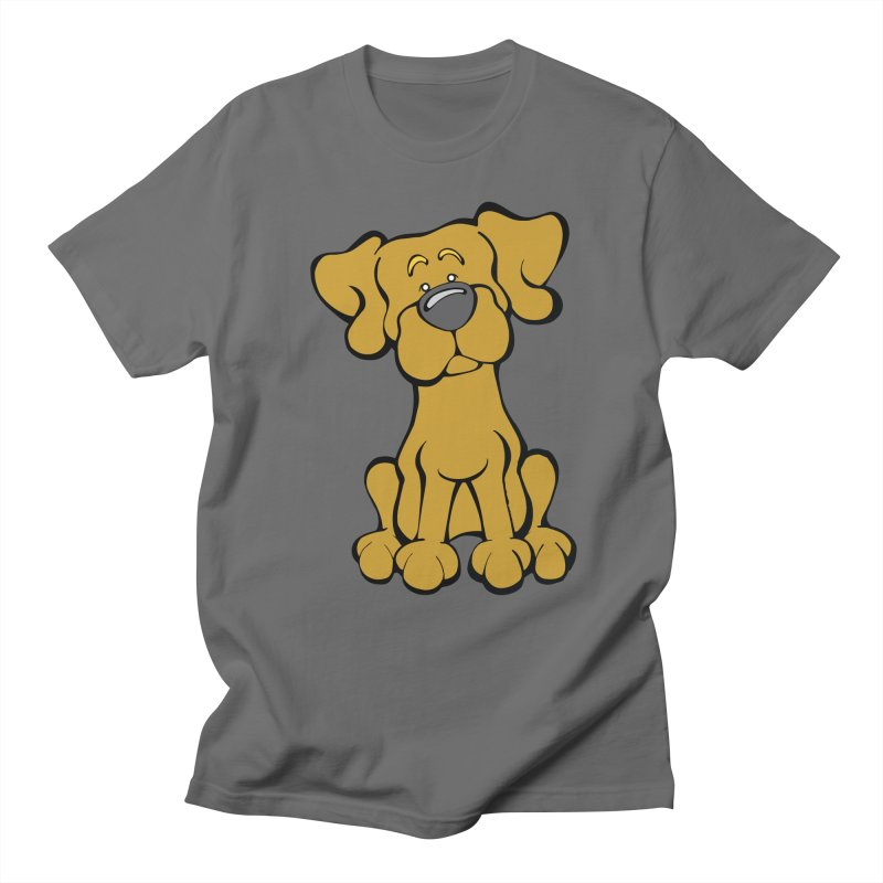 Labrador Retriever (Yellow) Men's T-Shirt by Angry Squirrel Studio