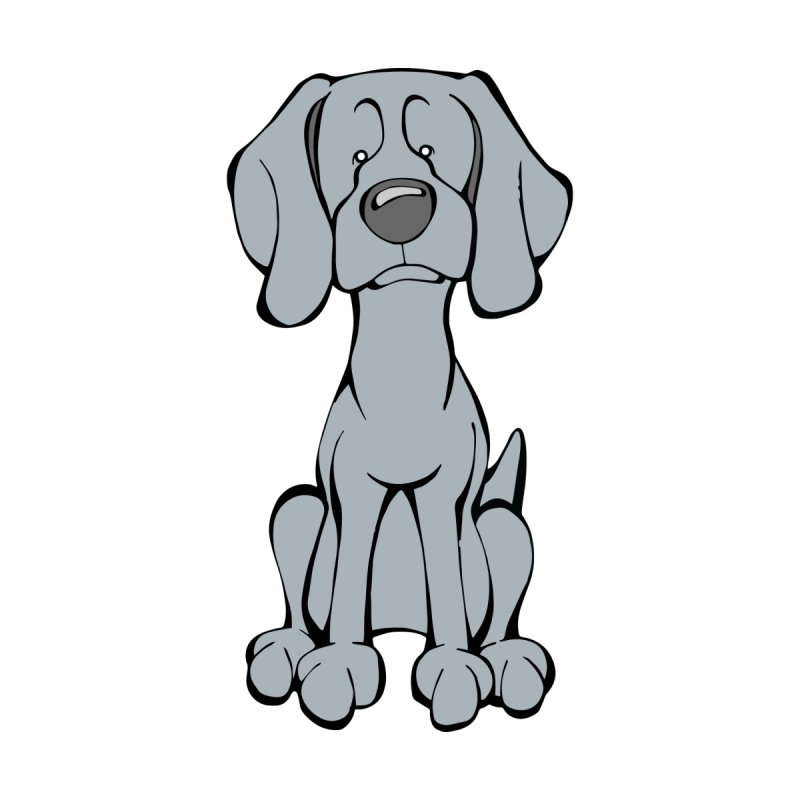 Weimaraner by Angry Squirrel Studio