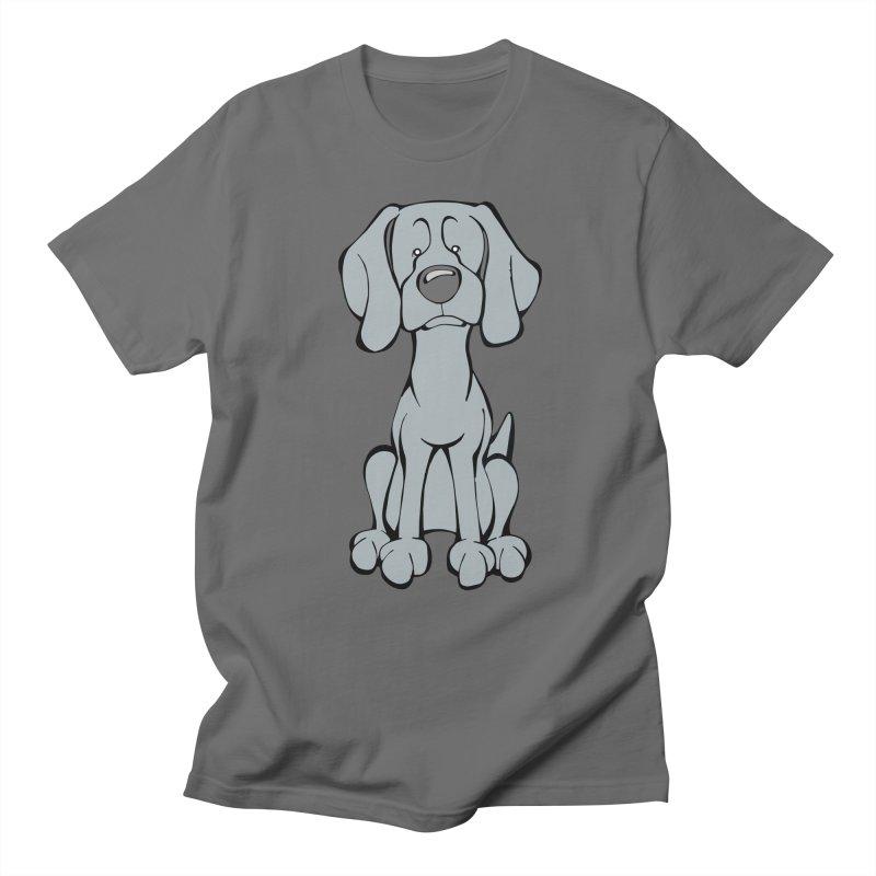 Weimaraner Men's T-Shirt by Angry Squirrel Studio