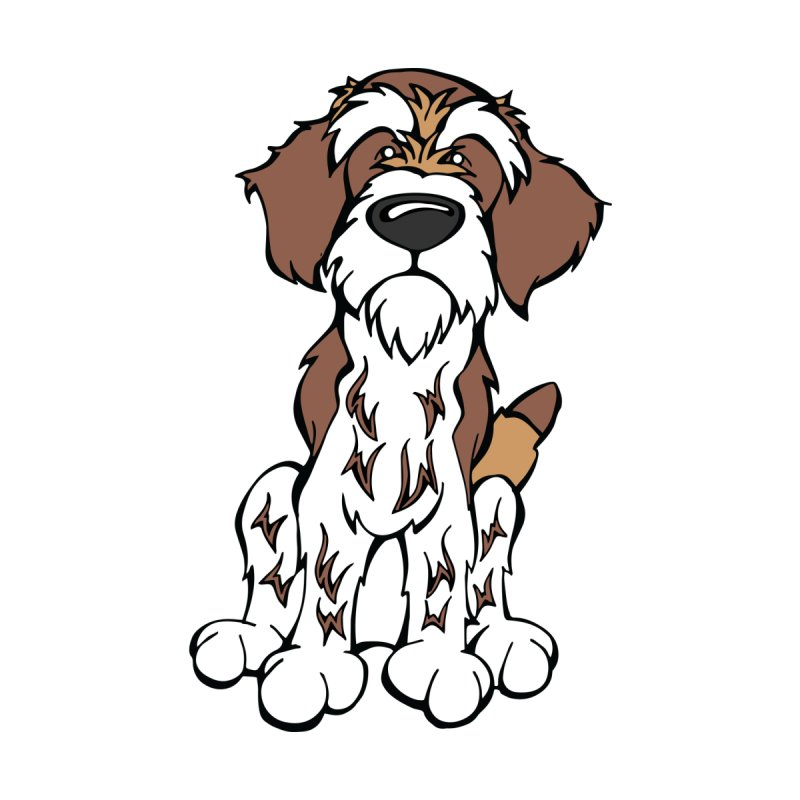 Wirehaired Pointing Griffon by Angry Squirrel Studio