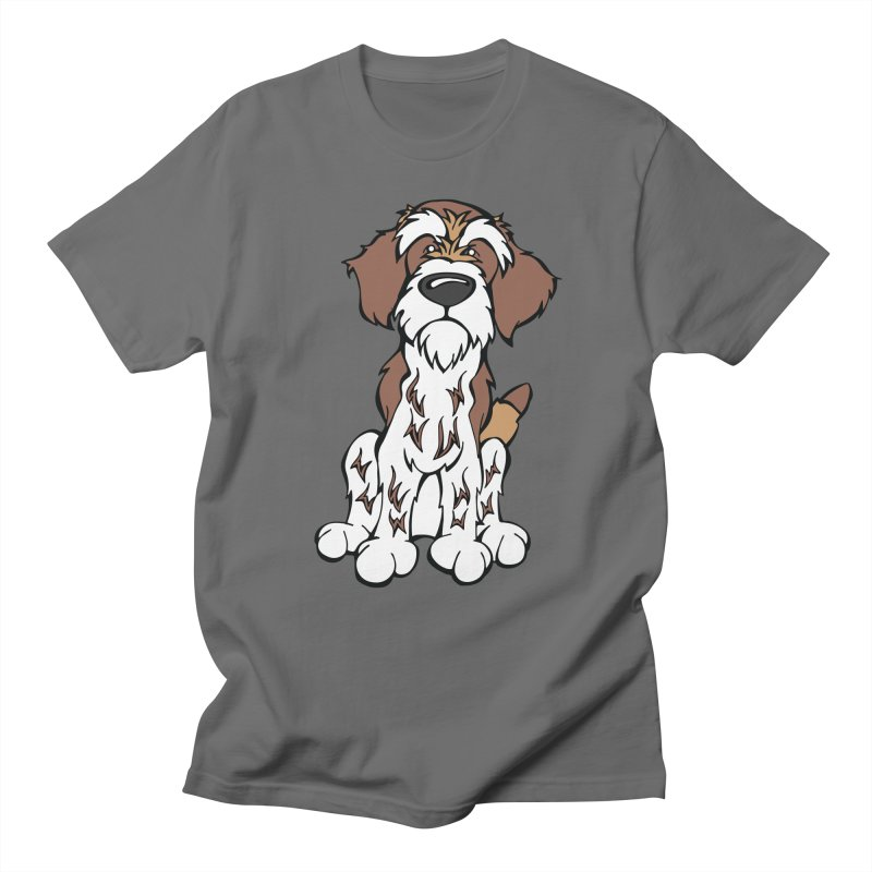 Wirehaired Pointing Griffon Men's T-Shirt by Angry Squirrel Studio
