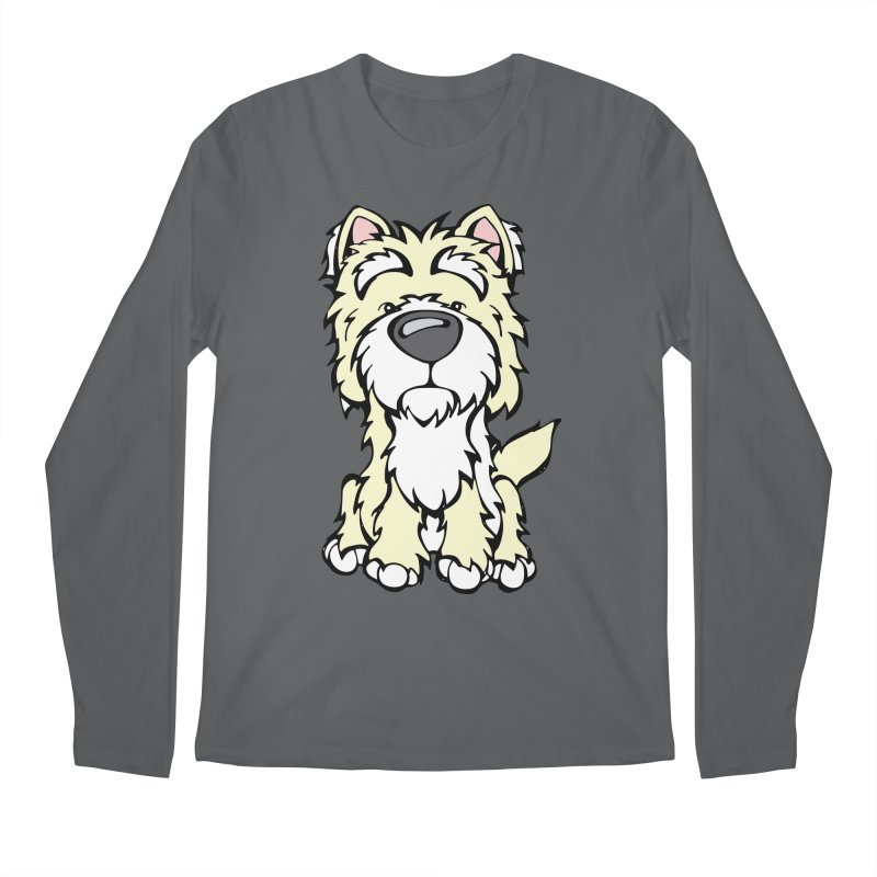 Westie Men's Longsleeve T-Shirt by Angry Squirrel Studio