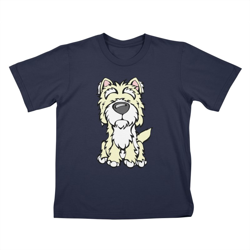 Westie Kids T-Shirt by Angry Squirrel Studio
