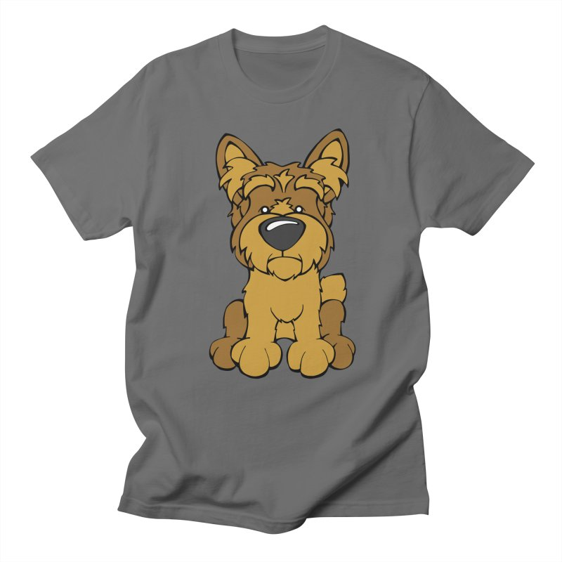 Yorkshire Terrier Men's T-Shirt by Angry Squirrel Studio