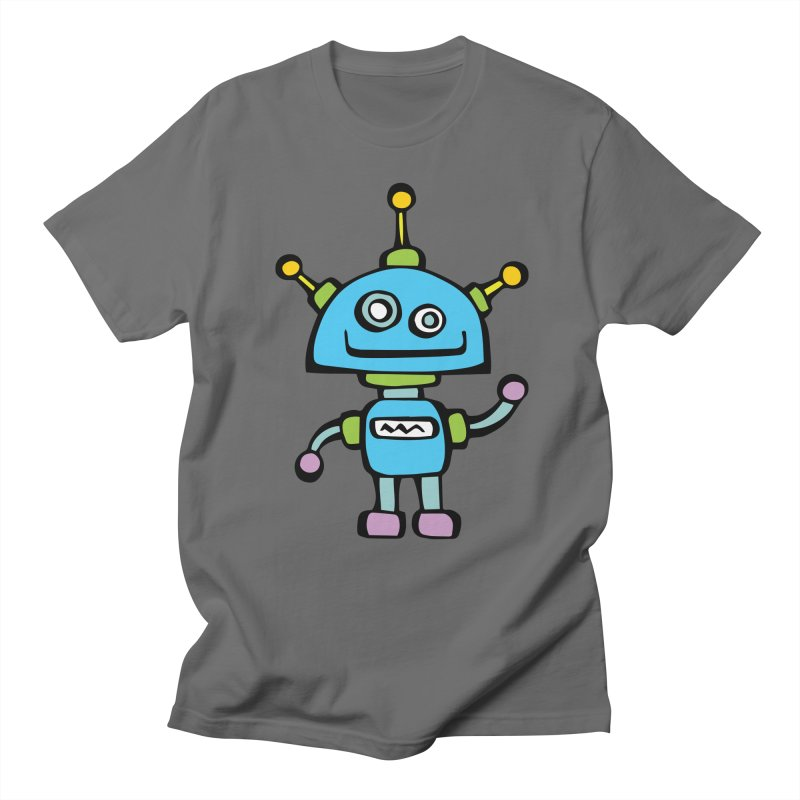 Robot No. 7 Men's T-Shirt by Angry Squirrel Studio