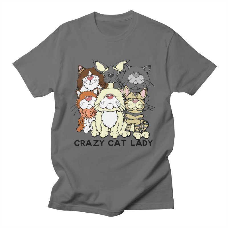 Crazy Cat Lady Men's T-Shirt by Angry Squirrel Studio