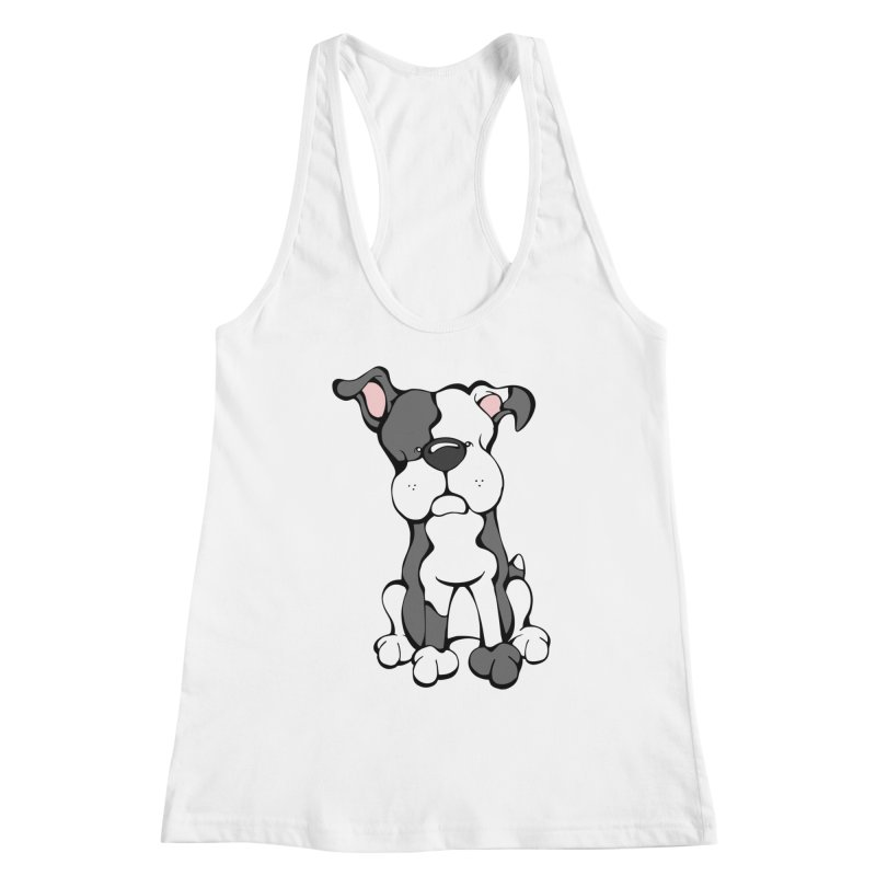 Pit Bull Women's Racerback Tank by Angry Squirrel Studio
