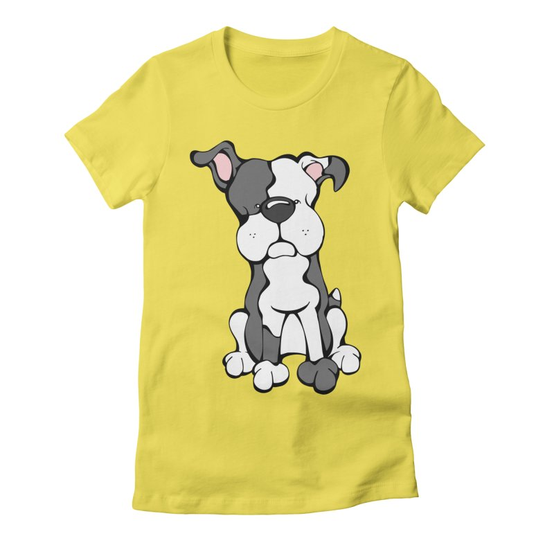 Pit Bull Women's Fitted T-Shirt by Angry Squirrel Studio