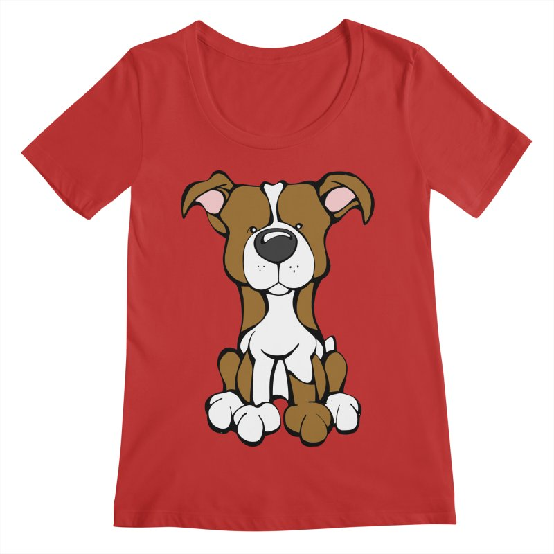 Pit Bull Women's Regular Scoop Neck by Angry Squirrel Studio