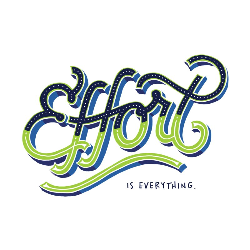 Effort is Everything Home Blanket by angrystrongo