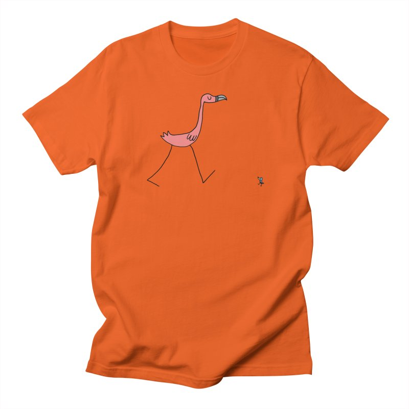 Flamingo and friend Men's T-Shirt by angrystrongo