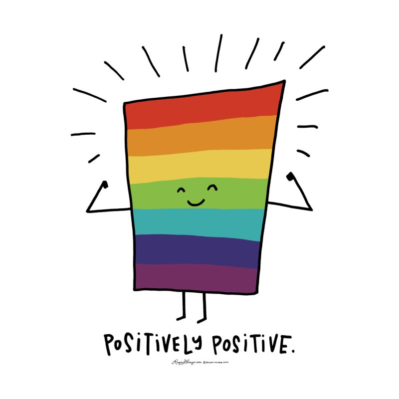 positively positive Men's T-Shirt by angrystrongo
