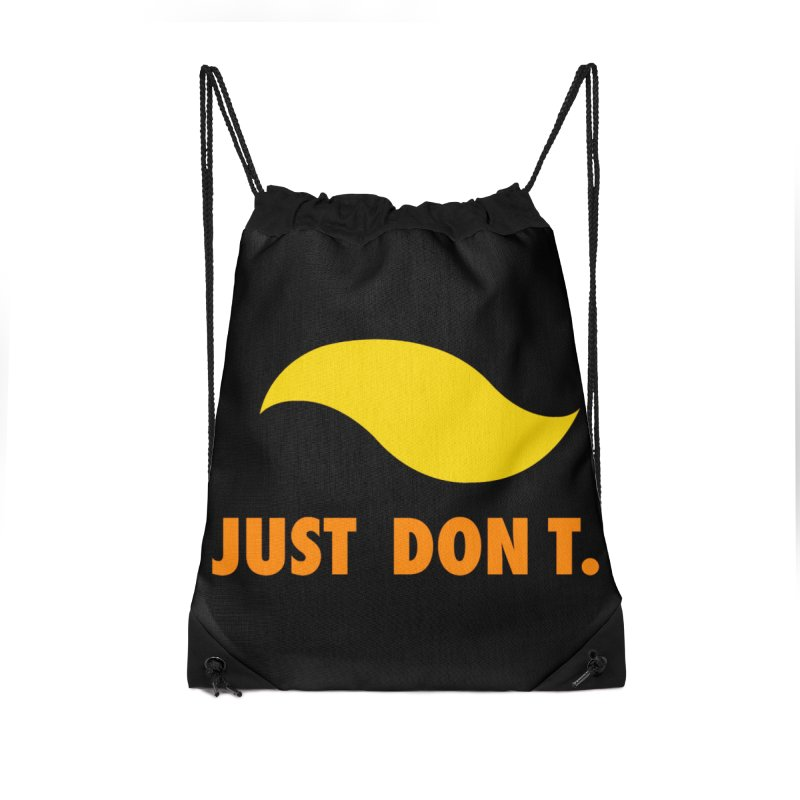 JUST DON T. Accessories Drawstring Bag Bag by an idle robot