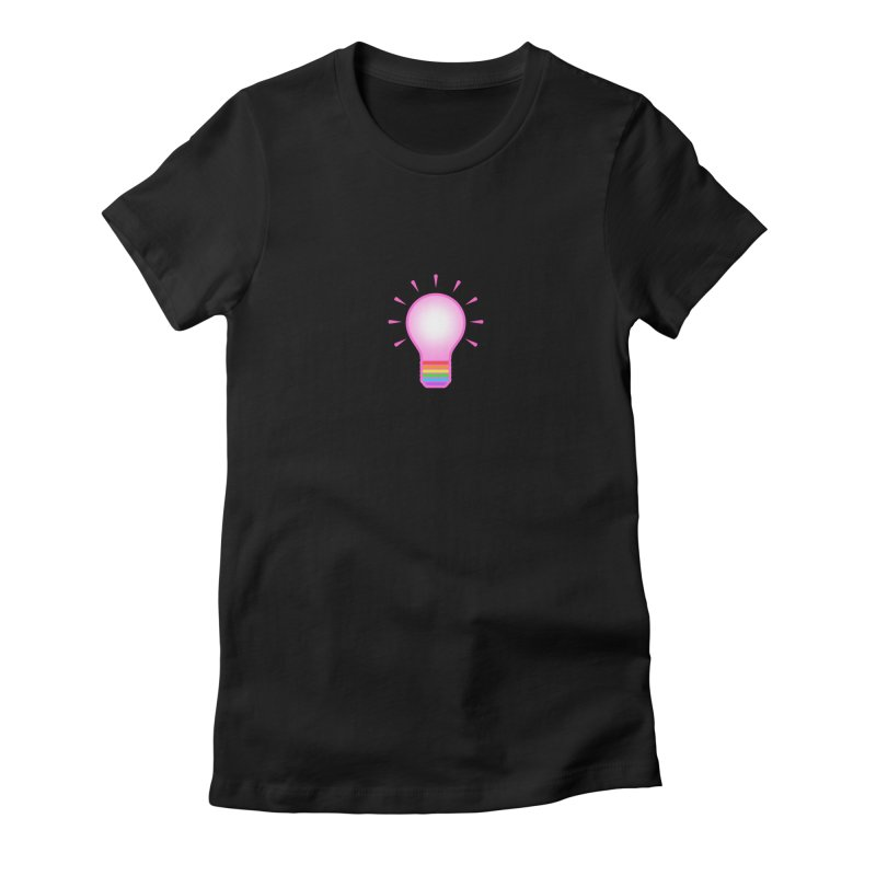 A GAY IDEA Women's Fitted T-Shirt by an idle robot