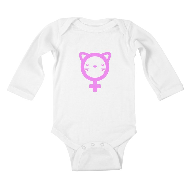 PUSSY POWER Kids Baby Longsleeve Bodysuit by an idle robot