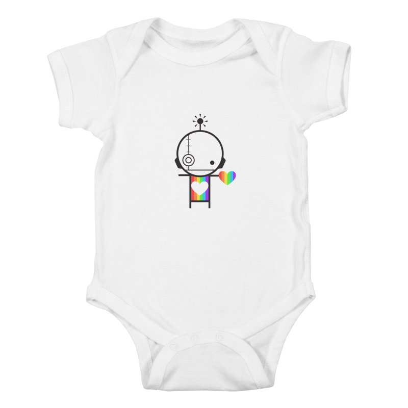 PRIDE SHARE Kids Baby Bodysuit by an idle robot