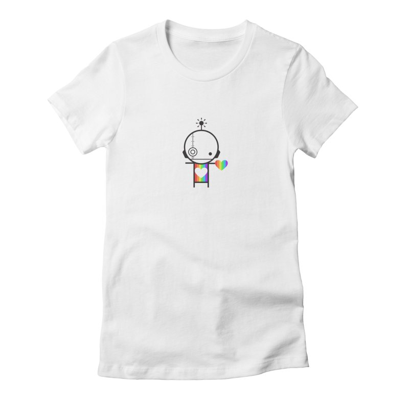 PRIDE SHARE Women's Fitted T-Shirt by an idle robot