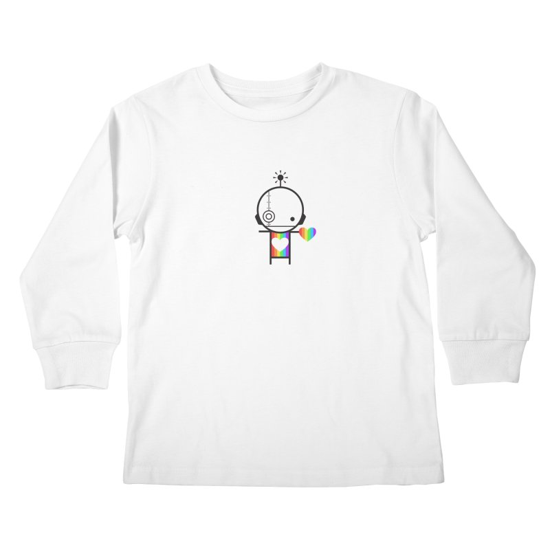 PRIDE SHARE Kids Longsleeve T-Shirt by an idle robot