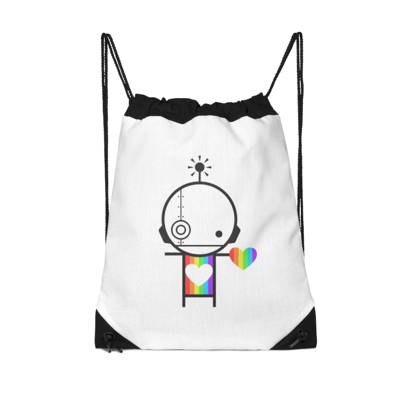 PRIDE SHARE Accessories Drawstring Bag Bag by an idle robot