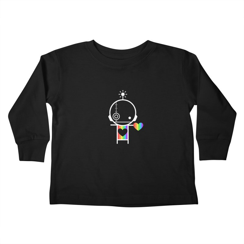 PRIDE SHARE Kids Toddler Longsleeve T-Shirt by an idle robot