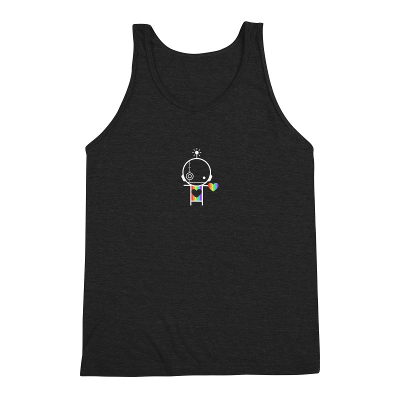 PRIDE SHARE Men's Triblend Tank by an idle robot