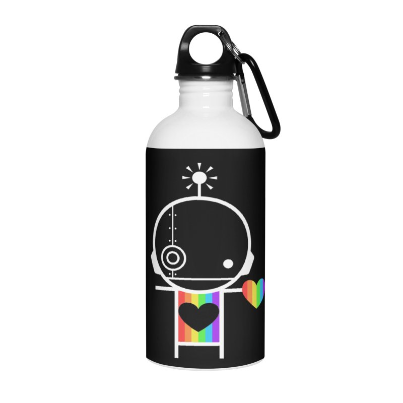 PRIDE SHARE Accessories Water Bottle by an idle robot