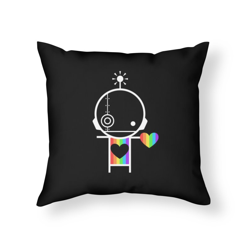 PRIDE SHARE Home Throw Pillow by an idle robot