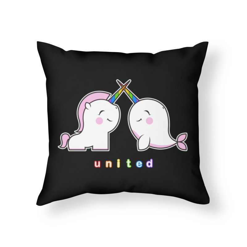 UNITED Home Throw Pillow by an idle robot