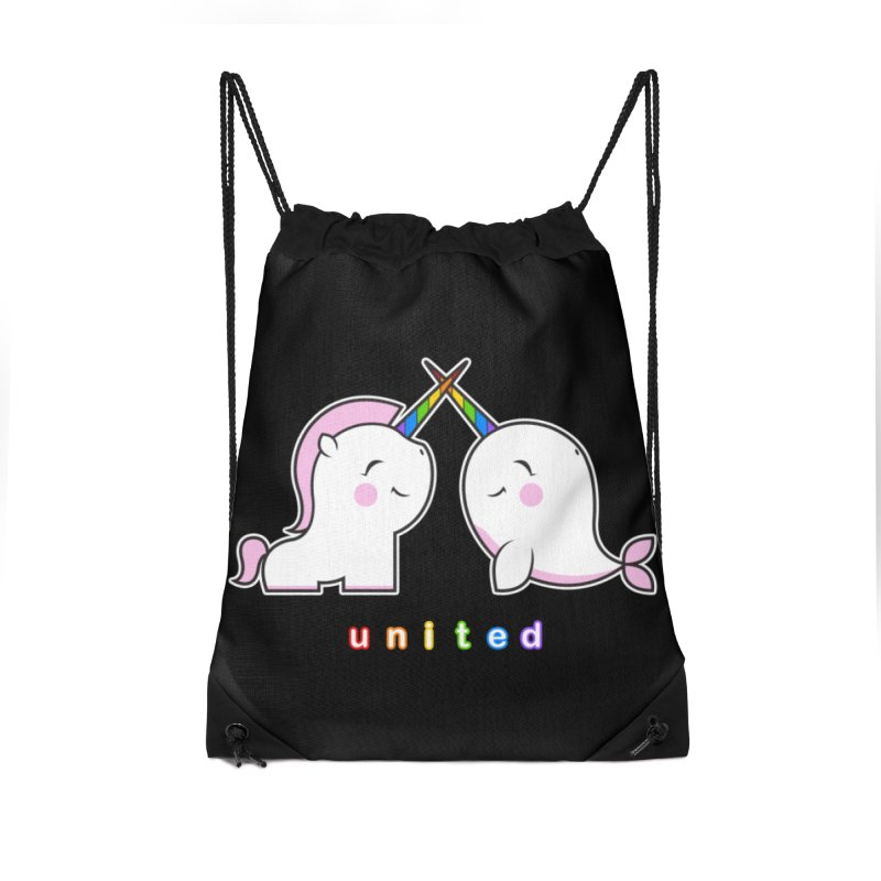 UNITED Accessories Drawstring Bag Bag by an idle robot